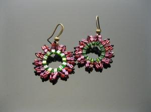 """""""Watermelon"""" Sunburst Earrings"""